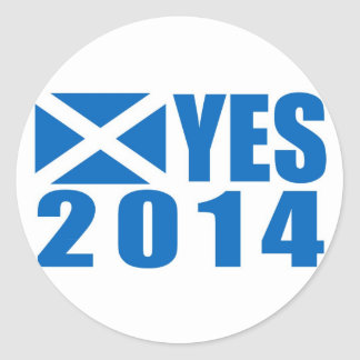 2014 Independence YES Round Sticker
