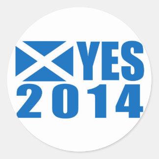 2014 Independence YES Round Sticker