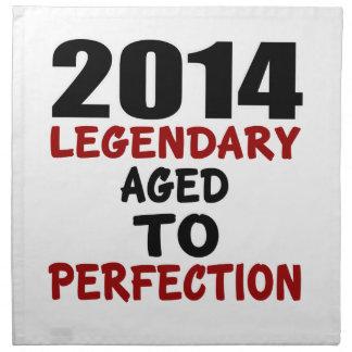 2014 LEGENDARY AGED TO PERFECTION NAPKIN
