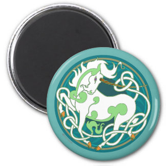 2014 Mink Nest Unicorn Magnet-Geen/Teal/White Magnet