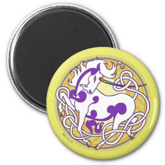 2014 Mink Nest Unicorn Magnet-White/Purple/Yellow Magnet