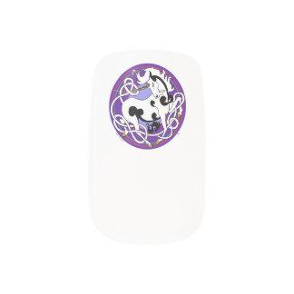 2014 Mink Style Unicorn Nail Wraps - Black/White
