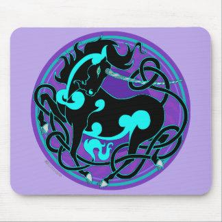 2014 MinkOffice: Unicorn Mouspad - Turquoise/Black Mouse Pad