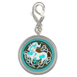 2014 MinkStyle Unicorn Charm - Brown/Blue