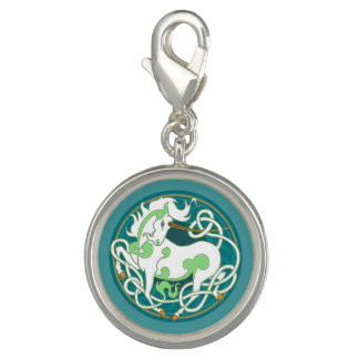 2014 MinkStyle Unicorn Charm - Green/White