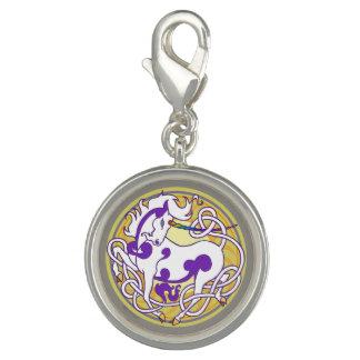 2014 MinkStyle Unicorn Charm-Purple/Yellow Charm