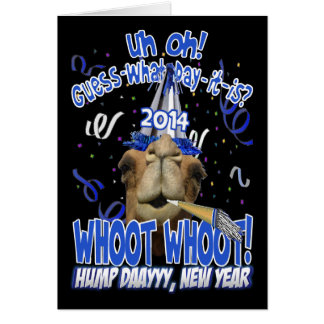 2014 New Year's Hump Day Camel Greeting Cards