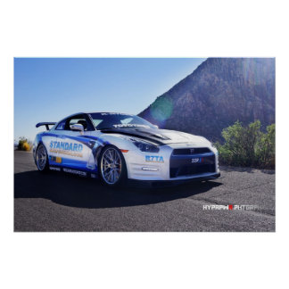2014 Nissan GT-R in Las Vegas for SEMA Poster
