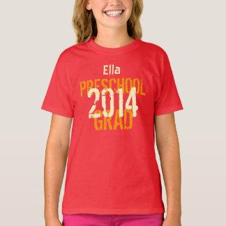 2014 or Any Year Preschool New Grad Custom Name v5 T-Shirt