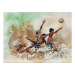 2014 Soccer boys football fans Print by Vimal