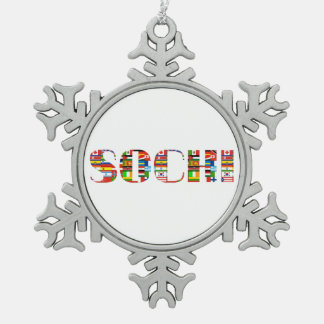 2014: Sochi Snowflake Pewter Christmas Ornament