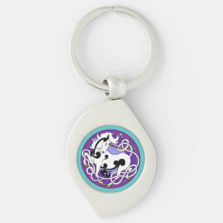 2014 Unicorn Keychain - Black/White