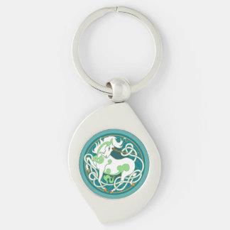 2014 Unicorn Keychain - Green/White