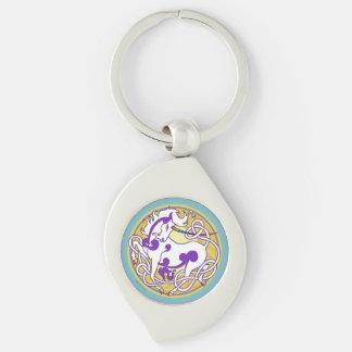 2014 Unicorn Keychain - Purple/White/Teal