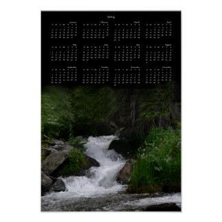 2014 Waterfall Calendar Poster