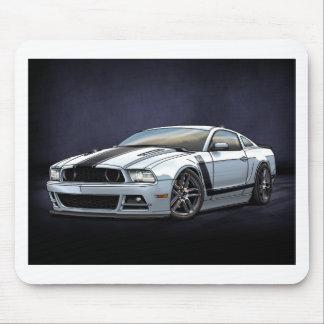 2014 White Boss 302 Mouse Pad