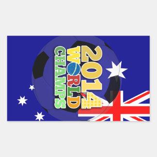 2014 World Champs Ball - Australia Rectangle Sticker