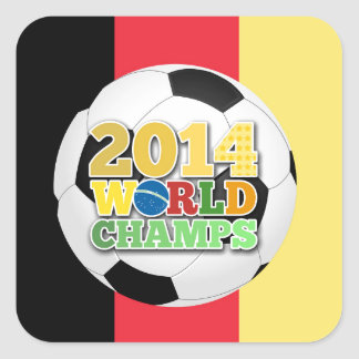 2014 World Champs Ball - Belgium Square Sticker