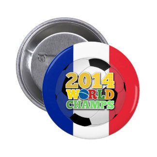 2014 World Champs Ball - France Pinback Button