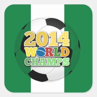 2014 World Champs Ball - Nigeria Square Sticker