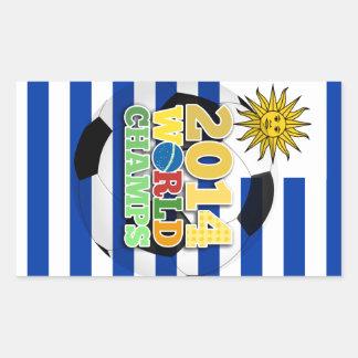 2014 World Champs Ball - Uruguay Rectangular Stickers