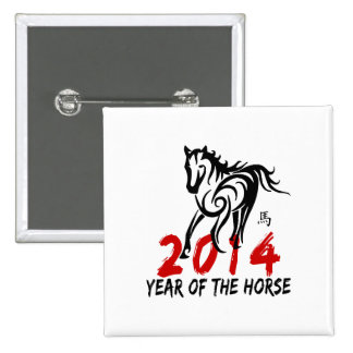 2014 Year of The Horse 2 Inch Square Button