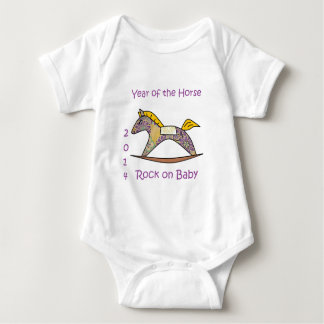 2014 Year of the Horse - Purple Baby Bodysuit