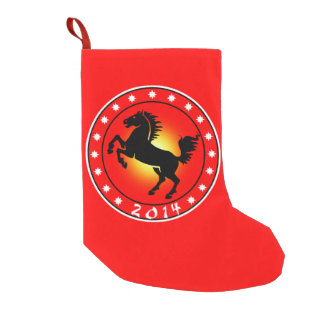 2014 Year of the Horse Small Christmas Stocking