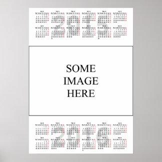 2015-2016 calendar template poster