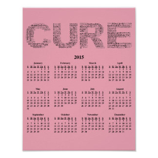 2015: A Year for the Cure Wall Calendar Posters
