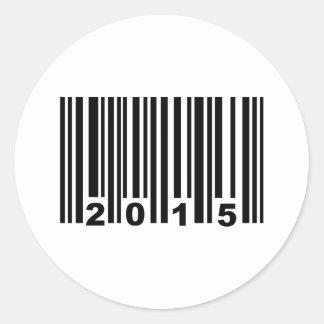 2015 barcode classic round sticker