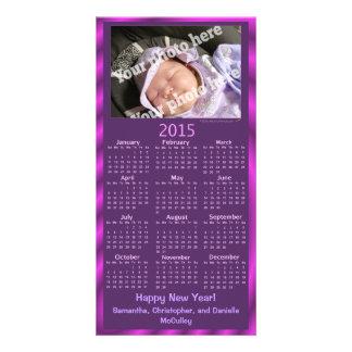 2015 Calendar Card Custom Photo Happy New Year Customized Photo Card
