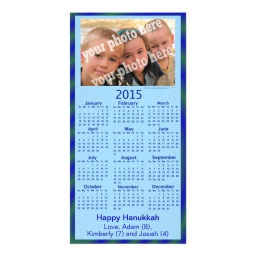 2015 Calendar Card Happy Hannukah Custom Photo Picture Card