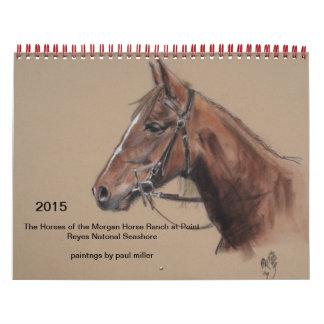 2015 calendar of Morgan Horse Ranch at PRNS