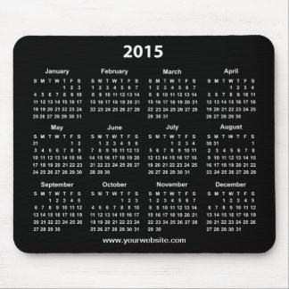 2015 Calender Black and White Business Mouse Pad