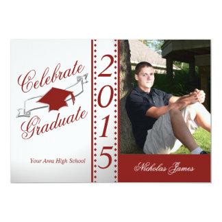 2015 Celebrate Graduate Red Photo Card