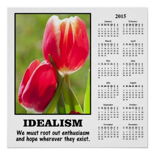 2015 Demotivational Calendar: Root Out Idealism Posters