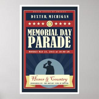 2015 Dexter Michigan Memorial Day Parade Poster