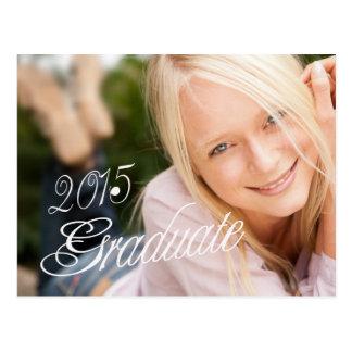 2015 Grad Girly Photo Graduation Party Invitation Postcard