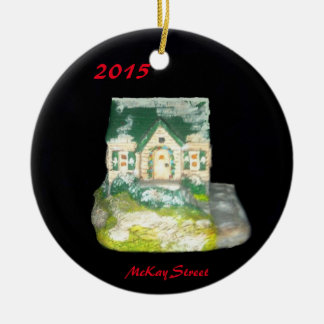 2015 MCKAY STREET OLD TOWN VILLAGE XMAS ORNAMENT