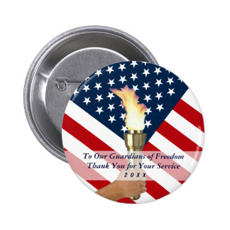 2015 Memorial Day Observance-Military Thank You 2 Inch Round Button