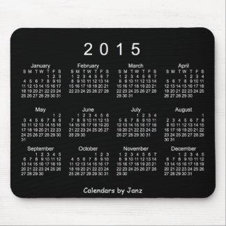 2015 Neon White Calendar by Janz Mousepad Mouse Pads