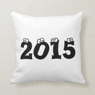 2015 numbers pillow