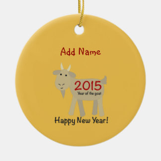 2015 Year Of the Goat - Happy New Year Ceramic Ornament