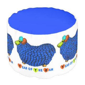 2015 Year of the Ram - Round Pouf