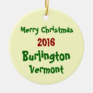 2016 BURLINGTON VERMONT MERRY CHRISTMAS ORNAMENT