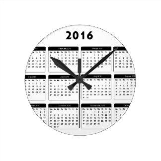 2016 Calendar2 jGibney The MUSEUM Zazzle Gifts Clocks