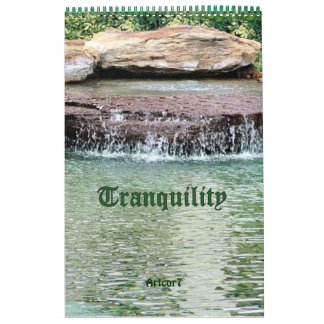 2016 Calendar Cascade Tranquility Single Page