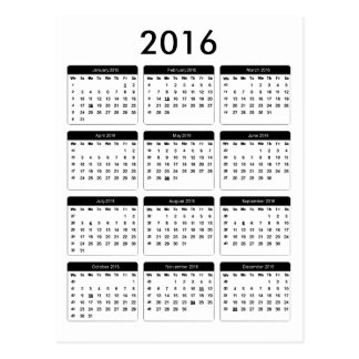 2016 Calendar jGibney The MUSEUM Zazzle Gifts Postcard