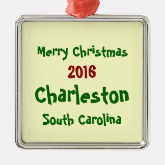2016 CHARLESTON SOUTH CAROLINA CHRISTMAS ORNAMENT